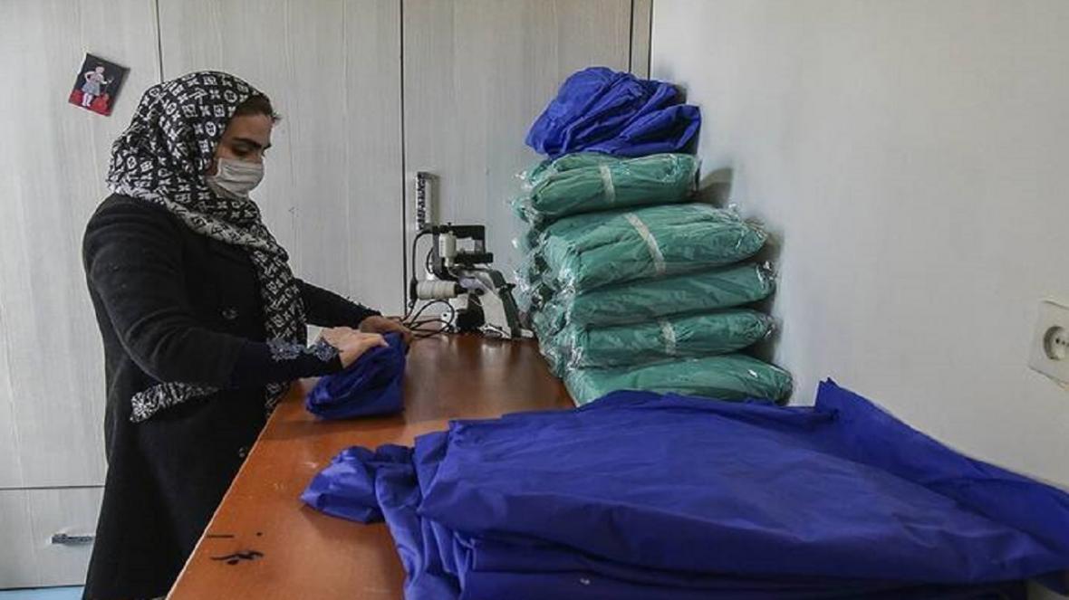 فراوری لباس برای کادر درمانی بیمارستان معتمدی گرمسار