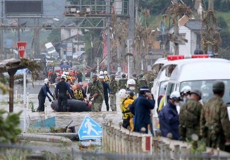 باران سیل آسا در ژاپن همچنان قربانی می گیرد، تازه ترین آمار 26 کشته