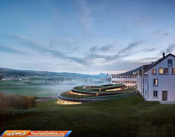 بنای مارپیچی در سوئیس که با الهام از قسمت های داخلی ساعت طراحی شده!