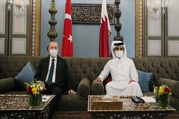 اردوغان و امیر قطر ملاقات کردند