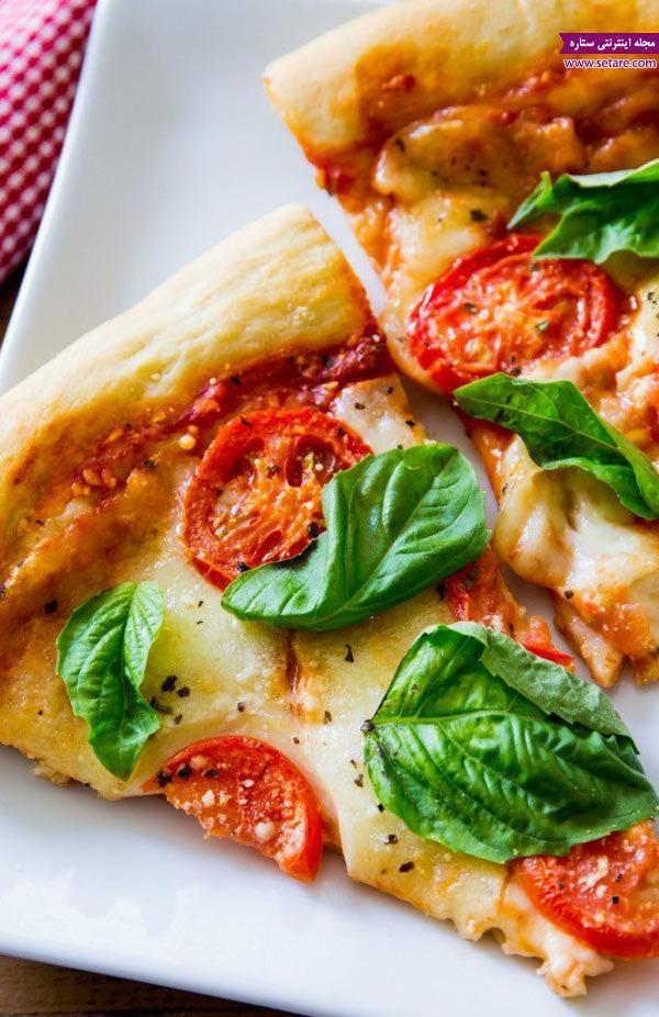 طرز تهیه پیتزا مارگاریتا کلاسیک