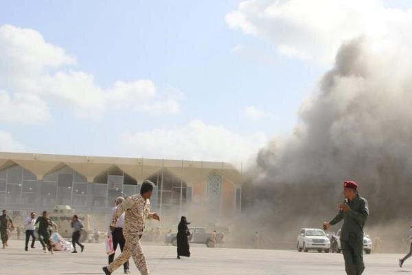 شمار کشته شدگان انفجار در فرودگاه عدن به 22 تن رسید