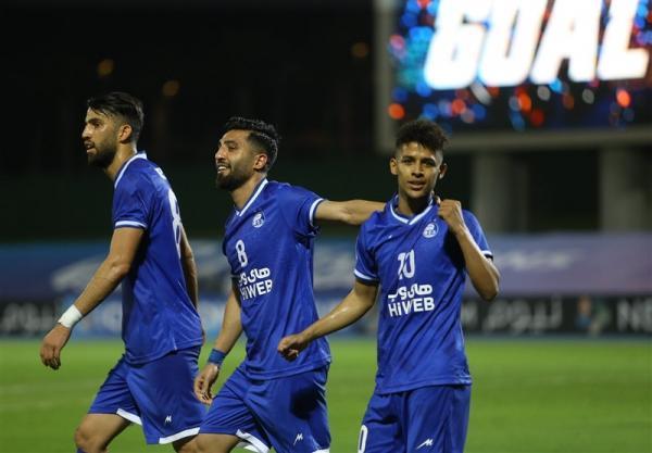 لیگ قهرمانان آسیا، فزونی کامل استقلال مقابل نماینده عربستان در آمار