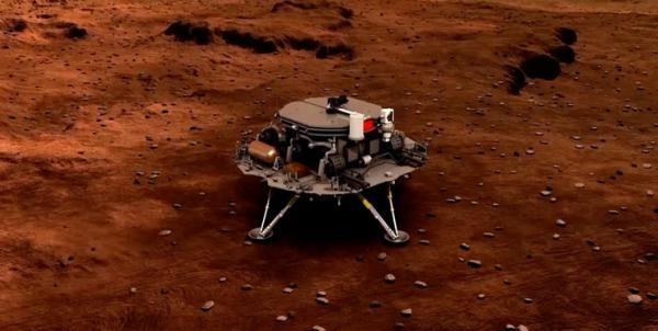 داده های مریخ نورد چین برای اولین بار به وسیله مدارگرد ارسال شد